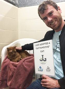 Garfield adopted